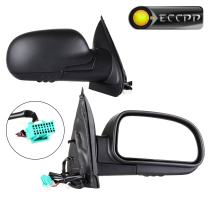 ECCPP Side Mirrors fit for 2002-2009 Chevrolet Trailblazer/Trailblazer EXT 03-08 Isuzu Ascender 02-04 Oldsmobile Bravada 02-09 GMC Envoy XL/Envoy XUV/Jimmy Power Heated Manul-Folding Pair Side Mirrors