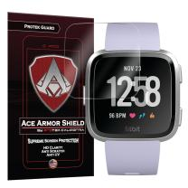 Fitbit Versa Screen Protector Version 1 Edge to Edge (Including Corners) (6-Pack) Ace Armor Shield Full Coverage Screen Protector for Fitbit Versa HD Puncture Proof Clear Screen Shield