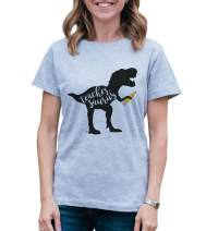 7 ate 9 Apparel Womens Teachersaurus Dinosaur T-Shirt