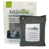 MOSO NATURAL: The Original Air Purifying Bag. Fragrance Free, Chemical Free, Long Lasting, Moisture Absorbing Odor Eliminator. for Cars, Closets, Bathrooms, Pet Areas. 200g Charcoal Color Bag