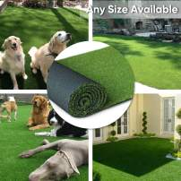 "· Petgrow · Artificial Synthetic Grass Turf 11FTX13FT(143 Square FT),0.8"" Pile Height Indoor Outdoor Pet Dog Artificial Grass Mat Rug Carpet for Garden Backyard Balcony"