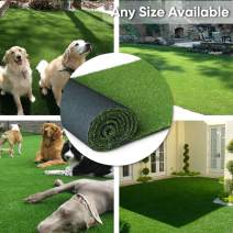 "· Petgrow · Artificial Synthetic Grass Turf 4FTX25FT(100 Square FT),0.8"" Pile Height Indoor Outdoor Pet Dog Artificial Grass Mat Rug Carpet for Garden Backyard Balcony"