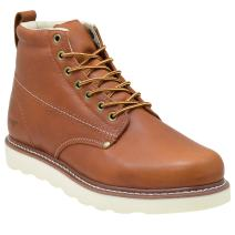 "Golden Fox Work Boots Men's 6"" Plain Toe Wedge Boot for Construction, Lightweight Comfortable Outsole"