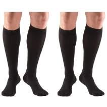 Truform Compression 20-30 mmHg Knee High Stockings Black, Medium, 2 Count