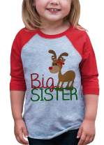 7 ate 9 Apparel Youth Big Sister Christmas Raglan Shirt Red