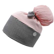 Hotme Working Cap with Buttons for Mask Stretchy Ribbon Tie Ponytail Hats for Women,Long Hair Head Covers Striped Hair Caps