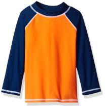 Flap Happy Boys' UPF 50+ Colorblock Rash Guard/Swim Top