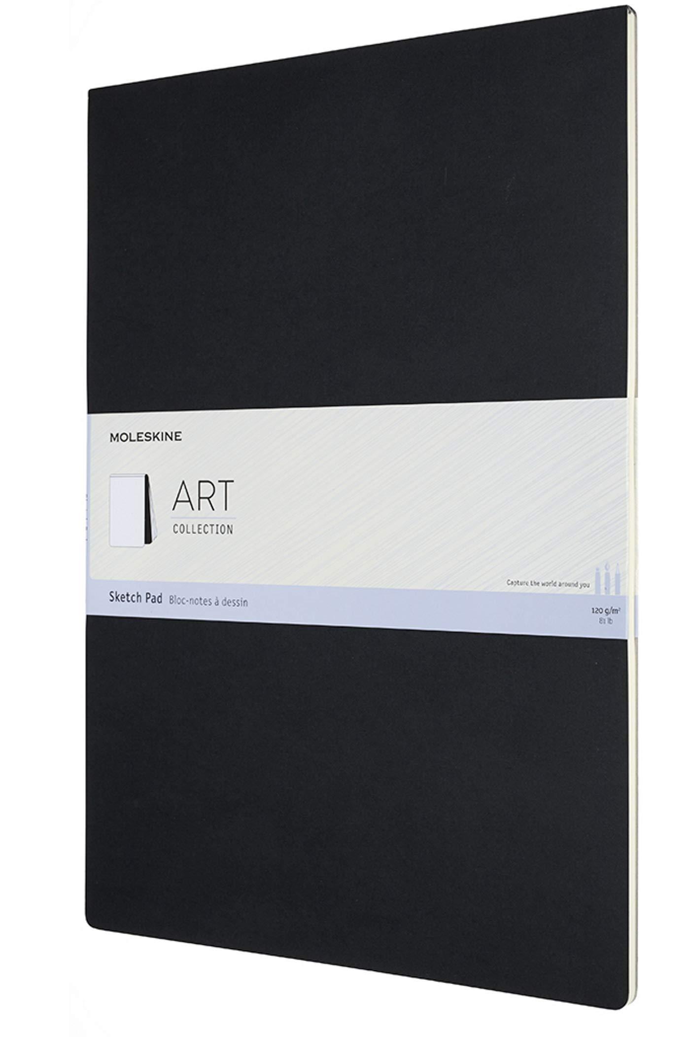 "Moleskine Art Sketch Pad, Soft Cover, A3 (11.75"" x 16.5"") Plain/Blank, Black, 48 Pages"