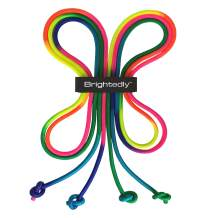 Brightedly 16 FT Double Dutch Jump Rope Set (2 Pack), Long Jump Ropes for Kids or Adults, Knotted Ends for Firmer Grip When Rope Skipping, Portable, Soft, Comfortable, Durable Quality Material
