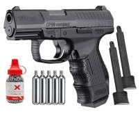 Wearable4U Umarex Walther CP99 Compact Air BB Pistol with Included 2 Extra Mags and CO2 12 Gram (5 Pack) and 1500ct Precision Steel BBS Bundle