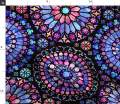 Spoonflower Fabric - Stained Glass, Rose Windows, Purple and Red, Large Scale, Watercolor, Printed on Fleece Fabric by The Yard - Sewing Blankets Loungewear and No-Sew Projects