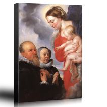 wall26 - Oil Painting of Virgin and Child by Peter Paul Rubens - Baroque Style - Catholic, Christianity, Heaven, Angel - Canvas Art Home Decor - 24x36 inches