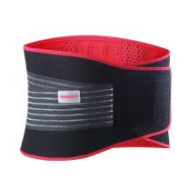 Udoarts Adjustable Lumbar Brace Back Support Belt with 10 Removable Steel Splints and Dual Straps,Black/Red