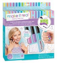 Make It Real - Paint and Sparkle Mermaid Nail Art. Mermaid Nail Polish, Sticker, and Decoration Kit for Girls. Includes Mermaid Nail Polish, Mermaid Stickers and Mermaid Nail Art Decorations