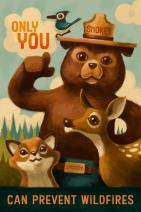 Smokey Bear - Only You - Oil Painting (12x18 Art Print, Wall Decor Travel Poster)