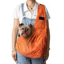 ZolooPet Sling Carrier, Small Dog & Cat Travel Shoulder Bag with Adjustable Strap, Large Size Pet Sling Carrier Up to 13 Lbs, Hands Free, Machine Washable, with a Free Christmas Bow Tie