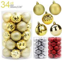 Lulu Home Ball Ornaments (2.36'', Gold)