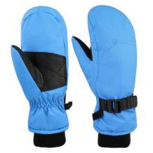 Kids Insulated Winter Waterproof Ski Mittens Warm Thinsulate Lined for Girls and Boys