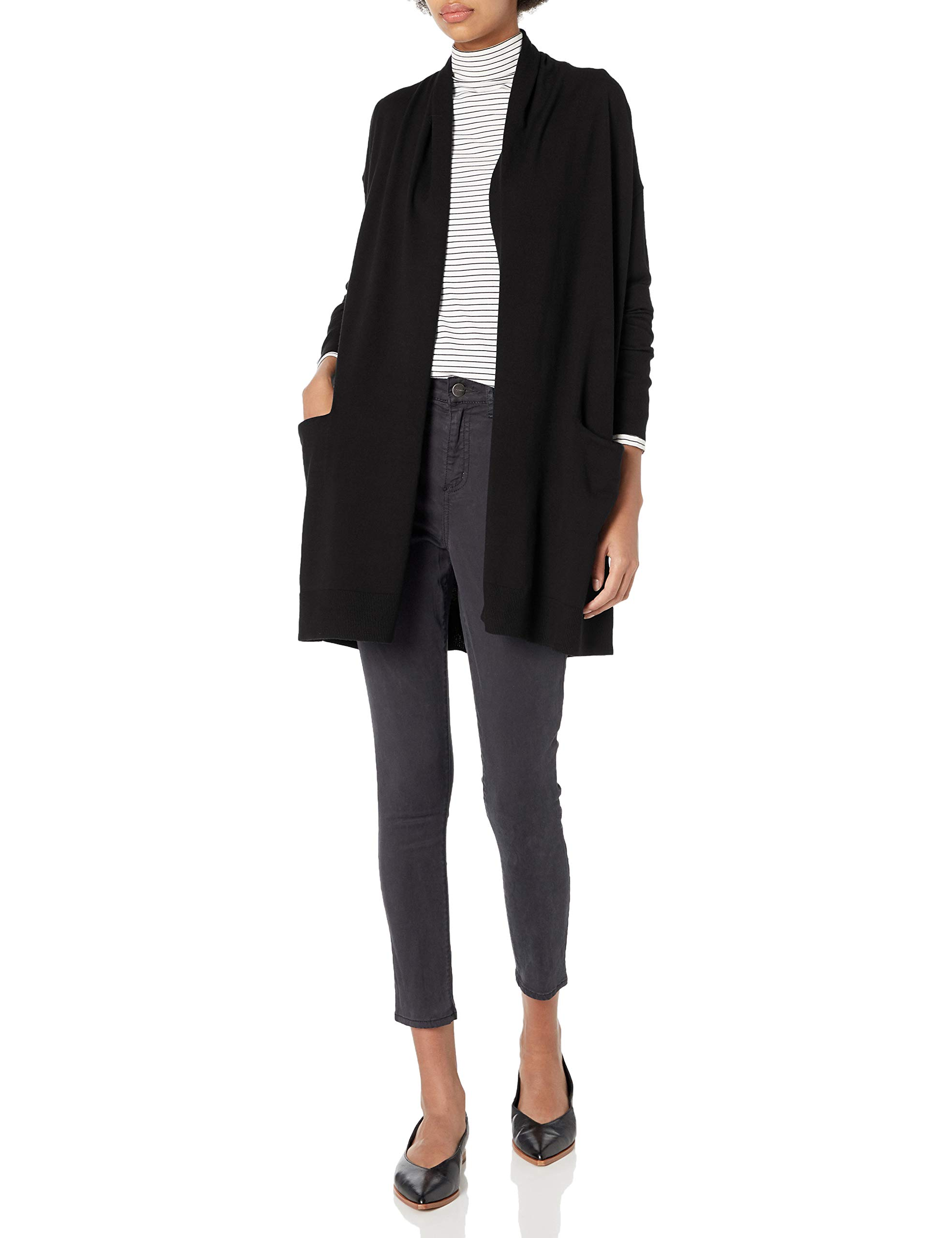 Amazon Brand - Daily Ritual Women's Fine Gauge Stretch Cardigan Sweater