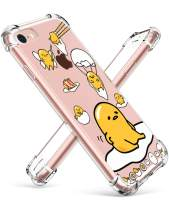 """Coralogo for iPhone 7/8 TPU Case, 3D Cute Cartoon Funny Design Character Protective Unique Chic Kawaii Fashion Fun Cool Stylish Cover Skin Teens Kids Girls Women Cases for iPhone 7/8 4.7"""" (Lazy Egg"""