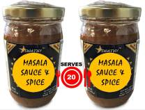 20-SERVING Masala or Curry Sauce PLUS Organic Spice Blend by Flavor Temptations, Vegan, Gluten-Free, Salt-Free, 2 Jars, FREE Quick and Easy Indian Recipes for Beginners