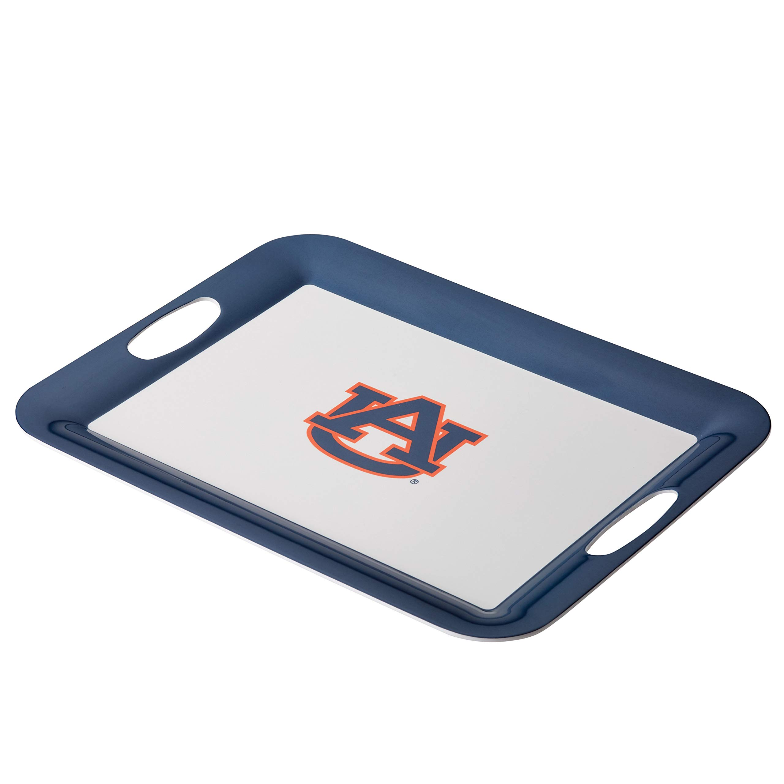 College Kitchen Collection 47966 Auburn Tigers Serving Tray / Party Platter / Food Appetizer Serveware - 12.5 Inch, White