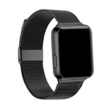 Band Compatible with Apple Watch 38mm 40mm 42mm 44mm,Stainless Steel Mesh Loop Strap Compatible with iWatch Series 6/5/4/3/2/1/SE (Black, 38mm/40mm)