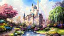 1000PCS Jigsaw Puzzle Kids Adults, Large Intellectual Educational Game, Dream Castle Art Project for Home Wall Decor