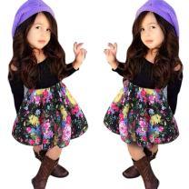 Franterd Baby Girls T-Shirt Tops+Floral Short Skirt, Outfit Clothes Set