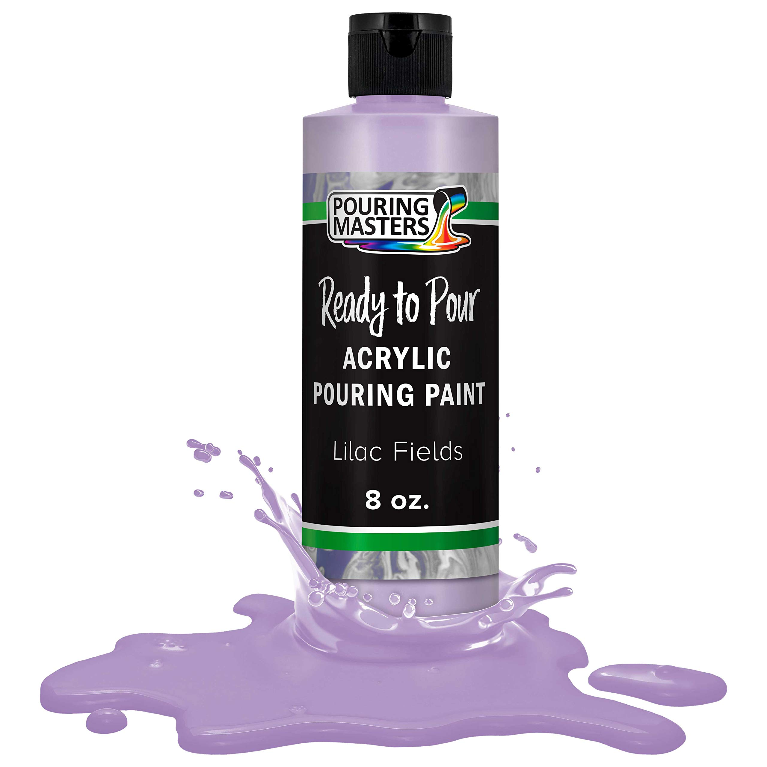 Pouring Masters Lilac Fields Acrylic Ready to Pour Pouring Paint – Premium 8-Ounce Pre-Mixed Water-Based - for Canvas, Wood, Paper, Crafts, Tile, Rocks and More