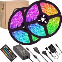 LED Strip Lights Sync to Music,UMICKOO 10M/32.8 feet Flexible Strip Light SMD 5050 RGB 300 LEDs with Remote Controll, Multi-Color Changing Light Strips for Ceiling Bar Counter Cabinet Decoration
