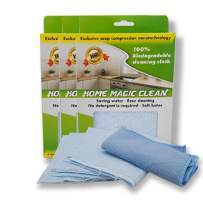 Magic Clean for Home Use - Magic Wipes with Slow Release Soap Imbedded in The Wipe, No Additional Detergent Required Bio-Degradable. (3-Pack) Each Pack Contains 6 Magic Wipes & 1 Microfiber Cloth