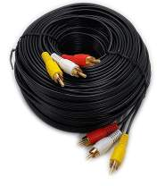 iMBAPrice (100 Feet) Long 3RCA Composite Video Audio A/V AV Cable - Gold Plated
