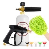 "HOUSE DAY Foam Cannon Gun Pressure Car Washer Gun Snow Foam Lance 1/4"" Quick Connector Foam Blaster Cars Wash Sprayer M22-14 Interface for Car Home Cleaning Kit"