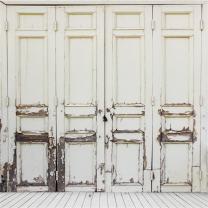 AOFOTO 10x10ft Shabby Rustic Wood Door Backdrop Old Hardwood Plank Photography Background Rural Peeling Off Nostalgia Vintage Wooden Wall Photo Studio Props Wallpaper Adult Child Artistic Portrait