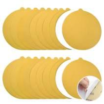 6 Inch Gold PSA Sanding Discs 20pcs 320 Grit Self Adhesive Sticky Back Aluminum Oxide Discs Woodworking Auto Polishing & Finishing Sandpaper for Random Orbital and DA Sander by POLIWELL