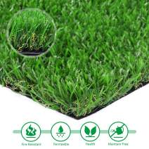 Artificial lawn 5'x10' Synthetic Turf Fake Grass Indoor Outdoor Landscape Pet Dog Area Rug, 5'x10', Green