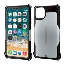 ELECOM Zero Shock Case & Film/Compatible with iPhone 11 Pro Max/Film Included/Full Protection/Bumper/Silver PM-A19DZEROSV