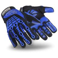 HexArmor Chrome Series 4024 Cut Resistant Safety Work Gloves with Anti Vibration Padded Palm, Medium