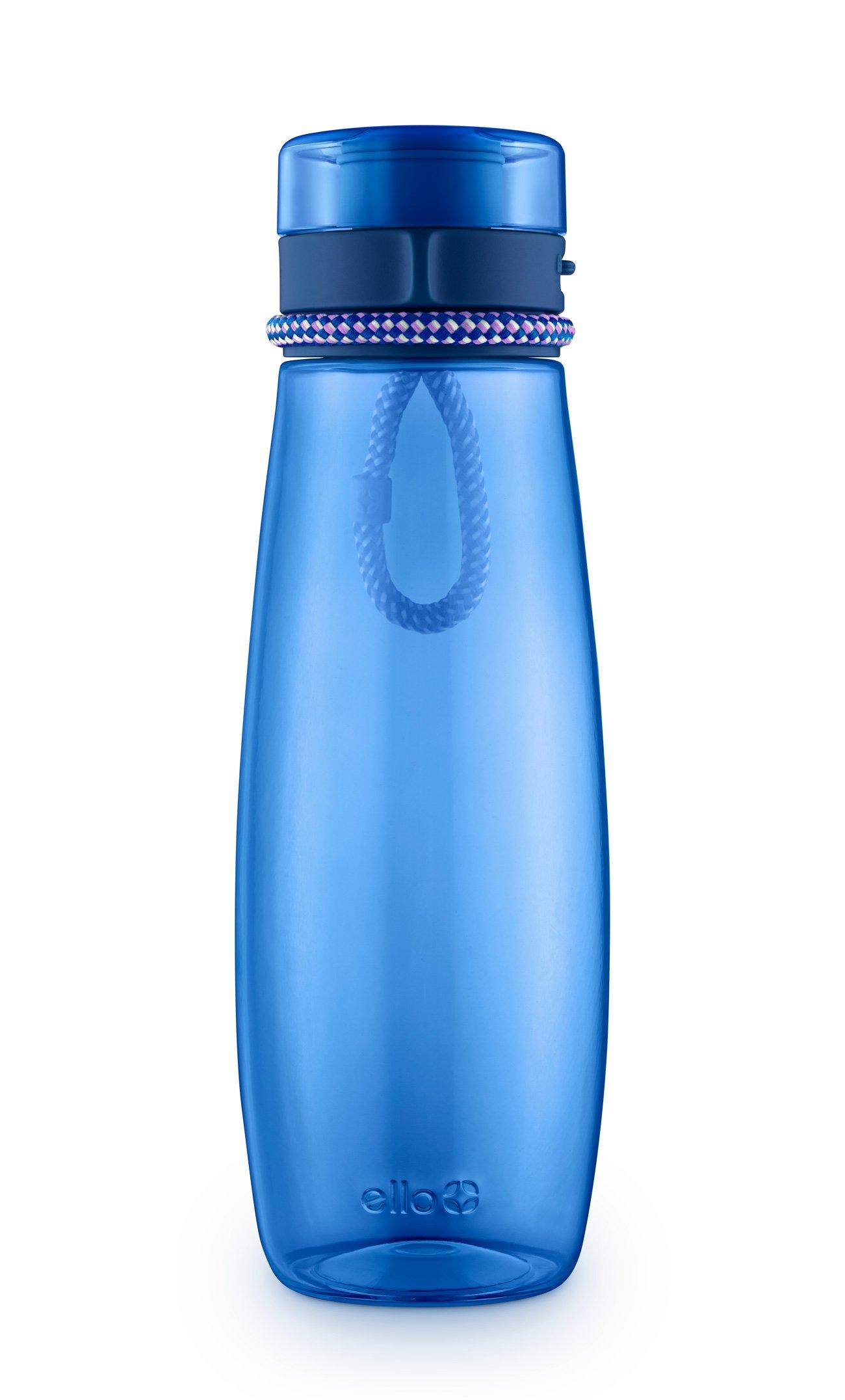 Ello Twister Tritan Plastic Water Bottle with Flip-Lid