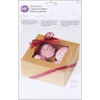 Wilton Kraft 4 Cavity Cupcake Boxes, 3 Count, Cupcake 4-Cavity