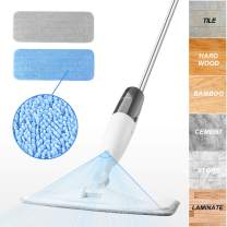 iTvanila Microfiber Spray Mop, Hardwood Floor Dust Mop with Extra 2 Washable Pads, 350 ml Water Tank and 360 Degree Rotation Mop Head for Cleaning Floor and Tile