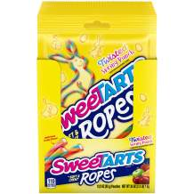 SweeTARTS Ropes Twisted Spring Punch Easter Candy 3 Oz, Assorted, 12 Count