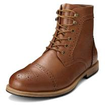 GM GOLAIMAN Men's Dress Boots Casual Lace up Ankle Boots