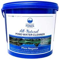Healthy Ponds 50902 Phos Negator All Natural Pond Water Cleaner, Binds to Phospates, 4.4 Pounds Treats 5,000 Square Feet, 4.4 lb 5, 000 sq', White