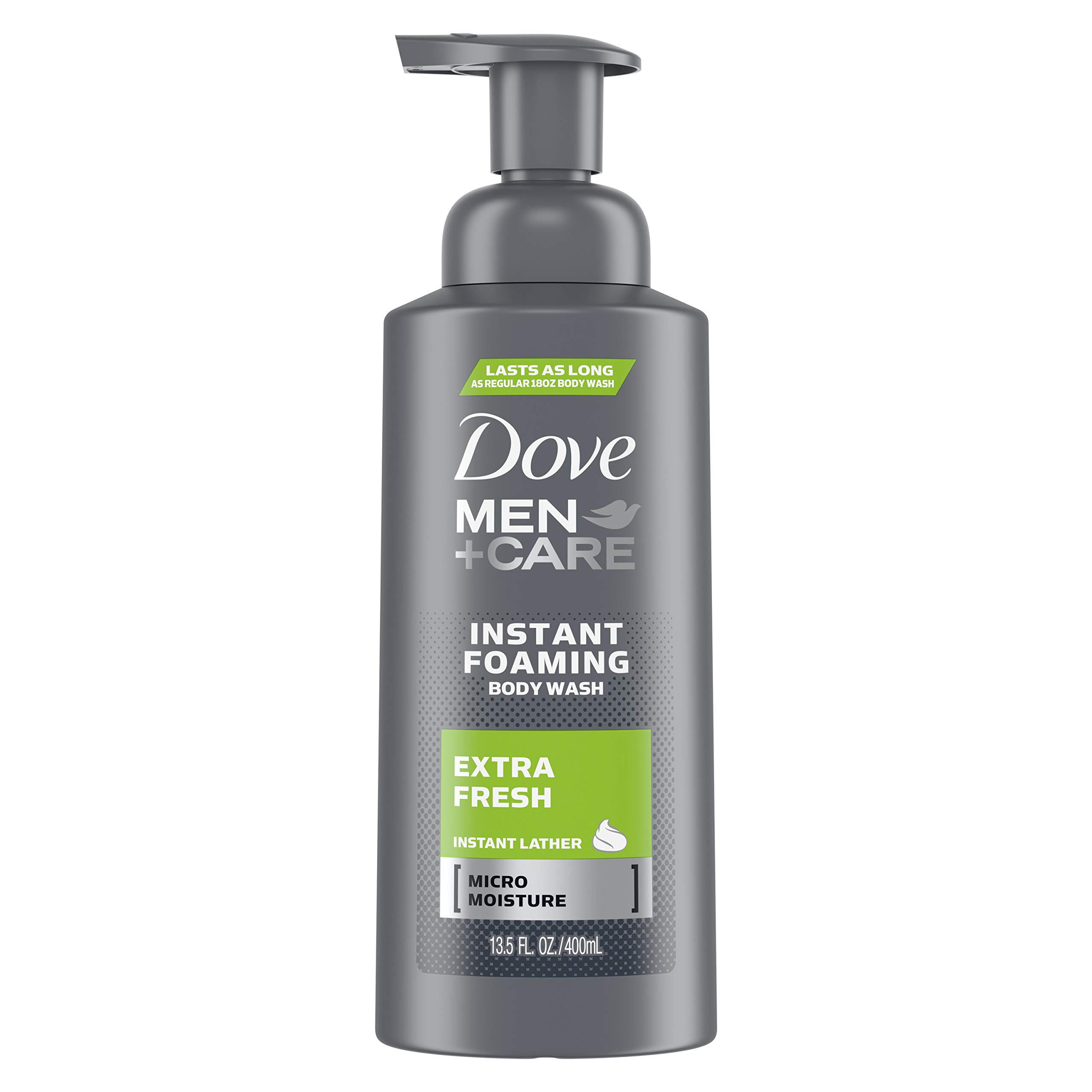 Dove Men+Care  Foaming Body Wash to Hydrate Skin Extra Fresh Effectively Washes Away Bacteria While Nourishing Your Skin 13.5 oz