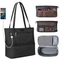 MONSTINA Lunch Bag for Women Men,Mufti-function USB Interface Tote Bag Thicken Aluminum Foil Insulation Reusable Lunch Bag for School Office
