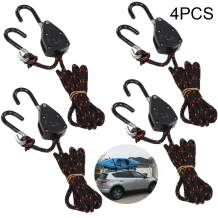"""Acronde 4PCS 1/8"""" Adjustable Heavy Duty Rope Hanger Ratchet Kayak and Canoe Bow and Stern Tie Downs Straps"""