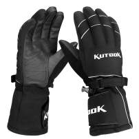 KUTOOK Waterproof Windproof Snowboarding Gloves for Winter Skiing Cycling Motorbike Snowmobile Men