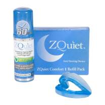 ZQUIET Anti-Snoring Mouthpiece Solution, Comfort Size #1 (Single Device,No Storage Case) + Anti-Bacterial Cleaner (1.5oz Bottle) - Made in USA & FDA Cleared, Sleep Aid, Dentist Designed Oral Appliance